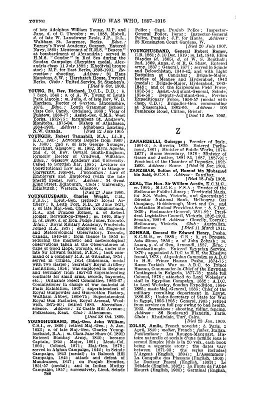 Who Was Who 1897-1916 page 788 - click to open larger version in a new window