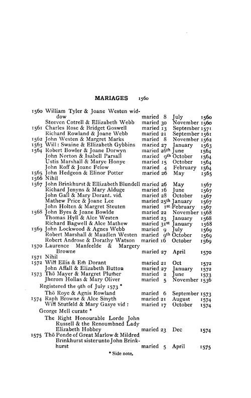 The Registers of Bisham page 19 - click to open larger version in a new window