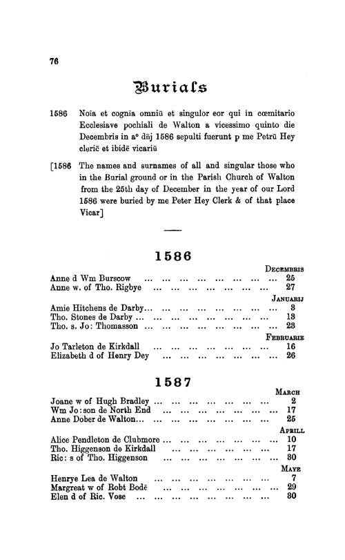 The Registers of Walton-on-the-Hill 1586-1683 page 76 - click to open larger version in a new window
