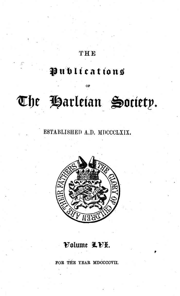 The Four Visitations of Berkshire, 1532, 1566, 1623, and 1665-66 volume 1 page i - click to open larger version in a new window