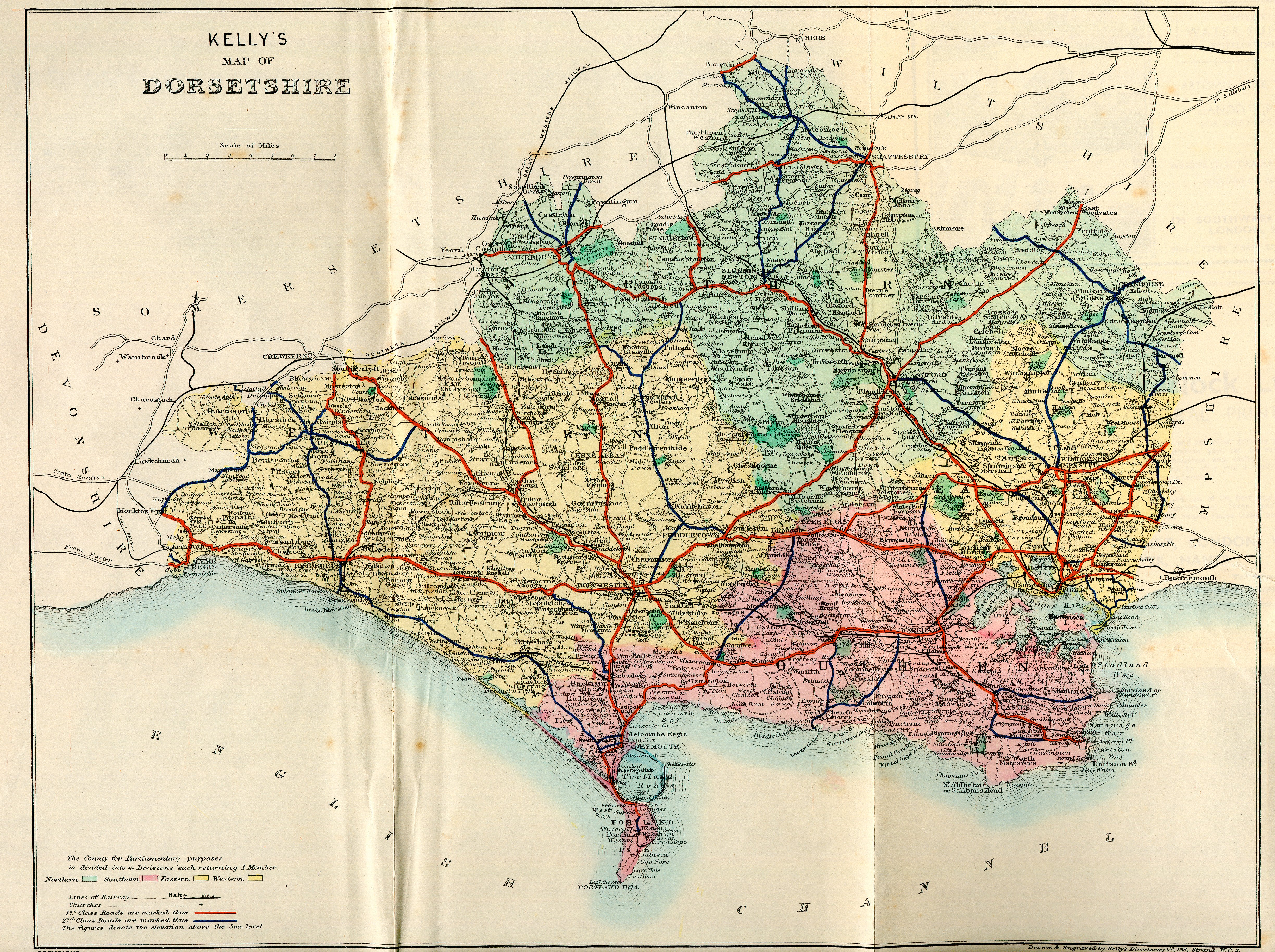 Kelly's Directory of Dorsetshire, 1935 page map - click to open larger version in a new window