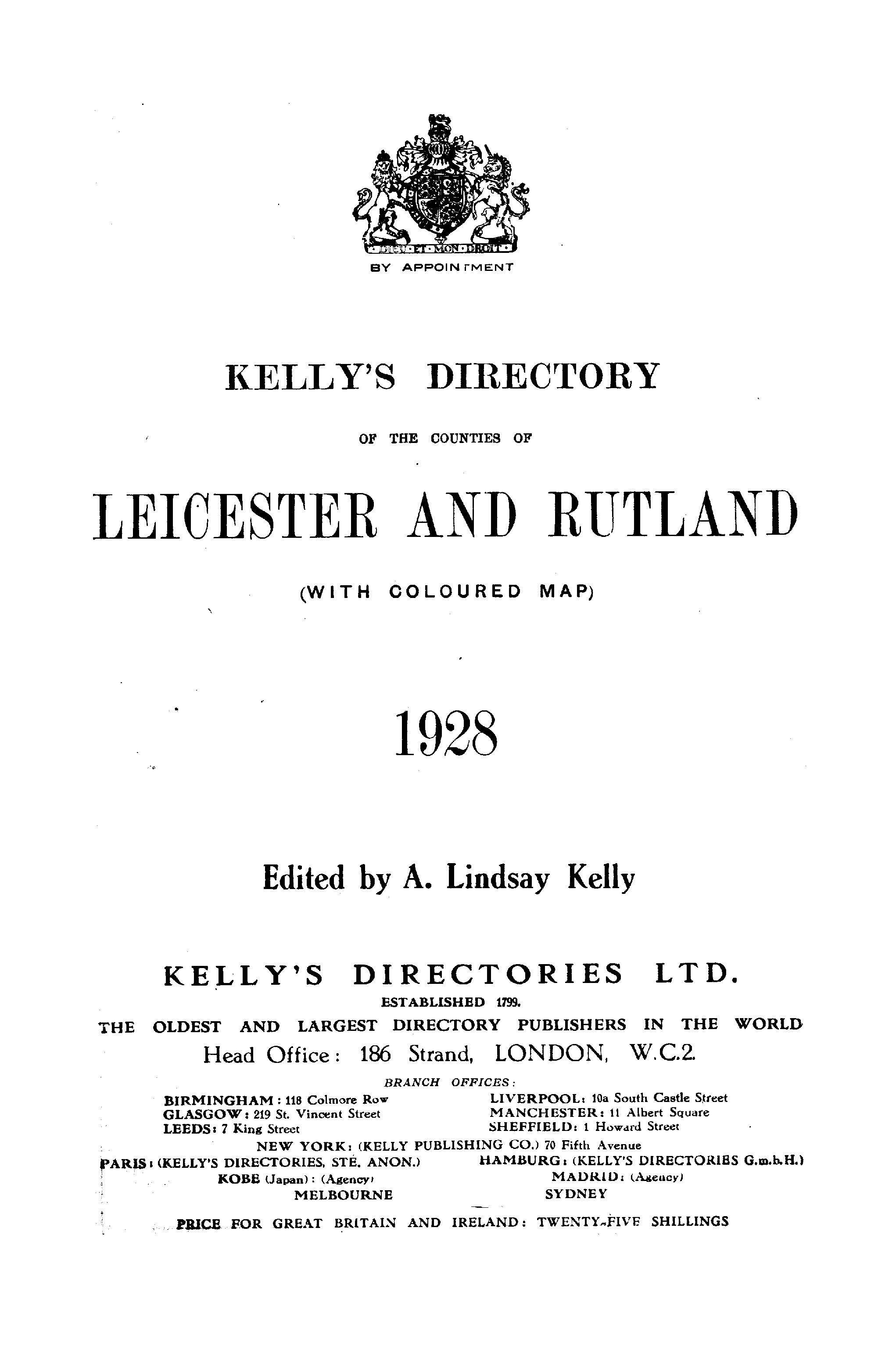 Kelly's Directory of Leicestershire and Rutland, 1928 page 29 - click to open larger version in a new window