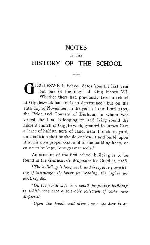 The Giggleswick School Register, 1499 to 1913 page ix - click to open larger version in a new window