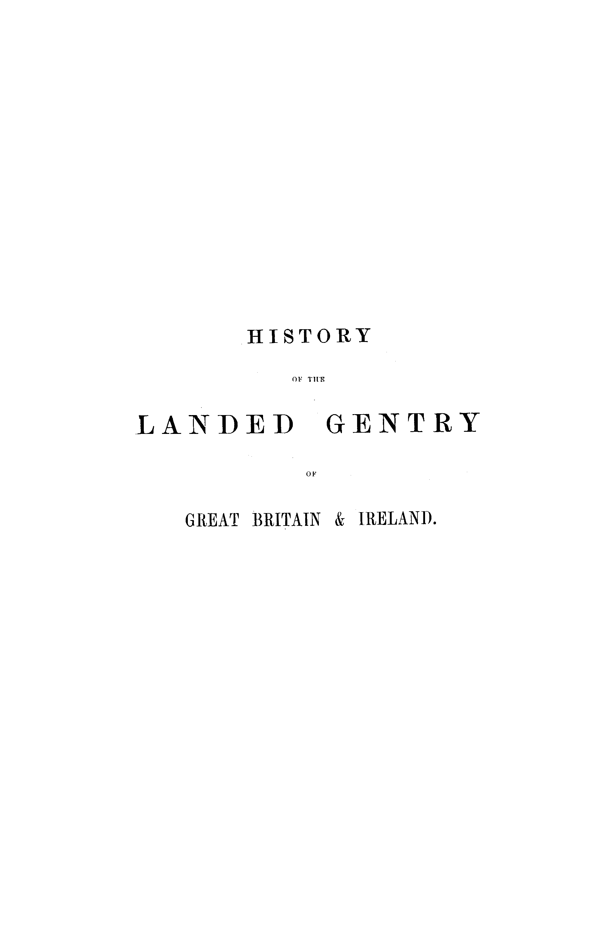 Burke's Landed Gentry, 1898 page i - click to open larger version in a new window