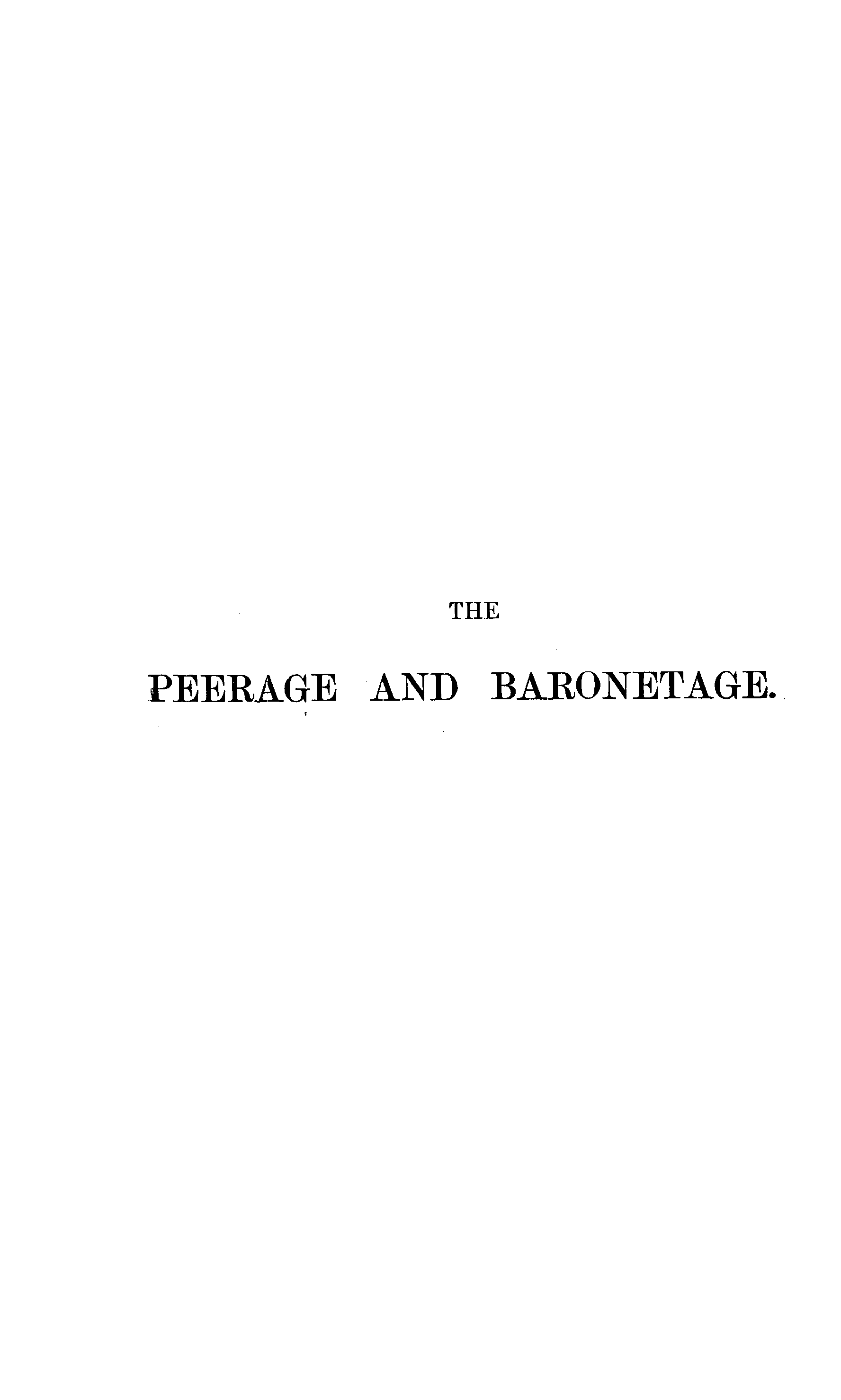 Burke's Peerage, Baronetage, and Knightage 1899 page cover - click to open larger version in a new window
