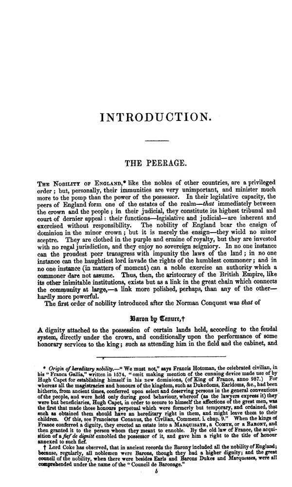 Burke's Peerage & Baronetage 1849 page ix - click to open larger version in a new window
