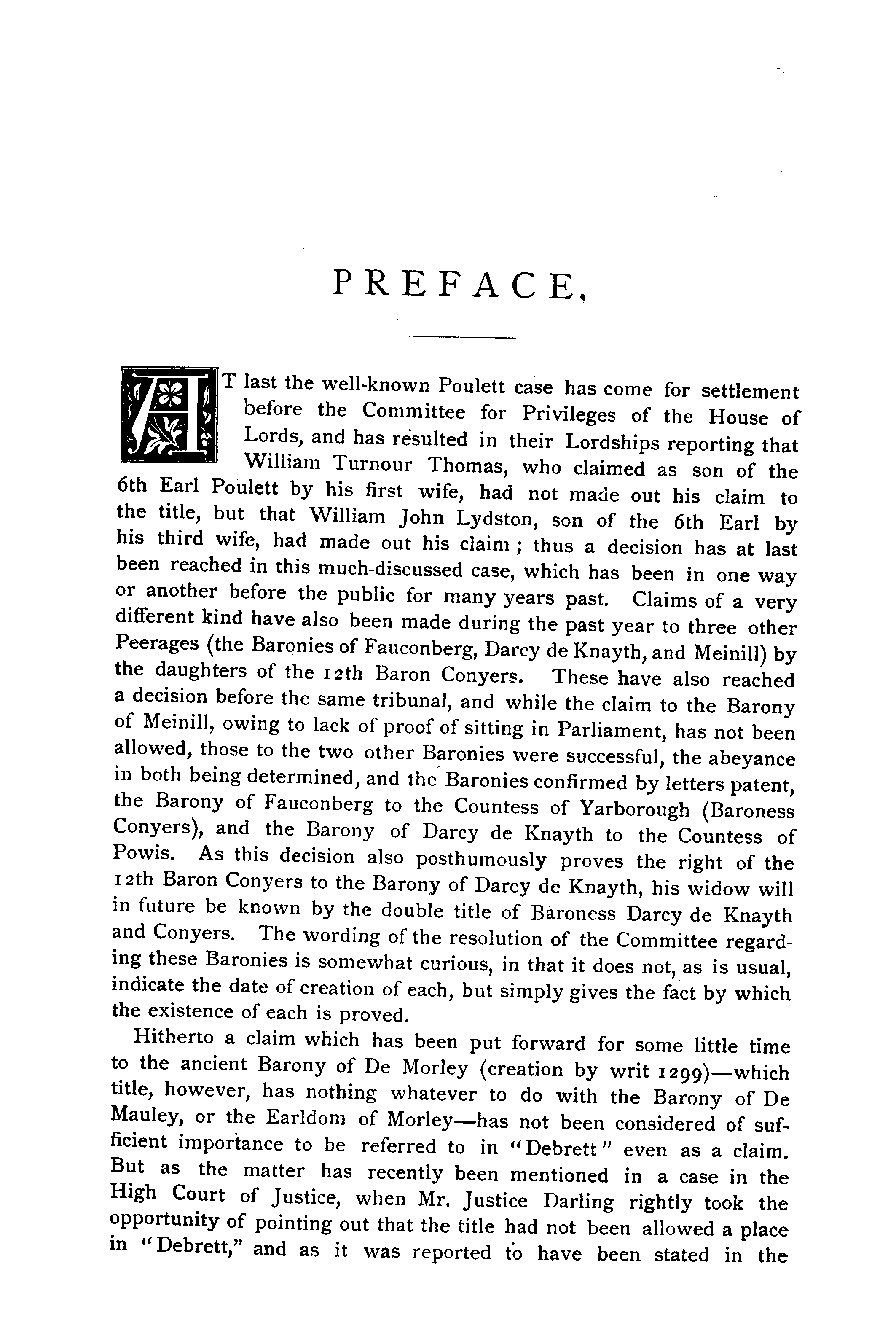 Debrett's Peerage, Baronetage, Knightage and Companionage, 1904 page iii - click to open larger version in a new window