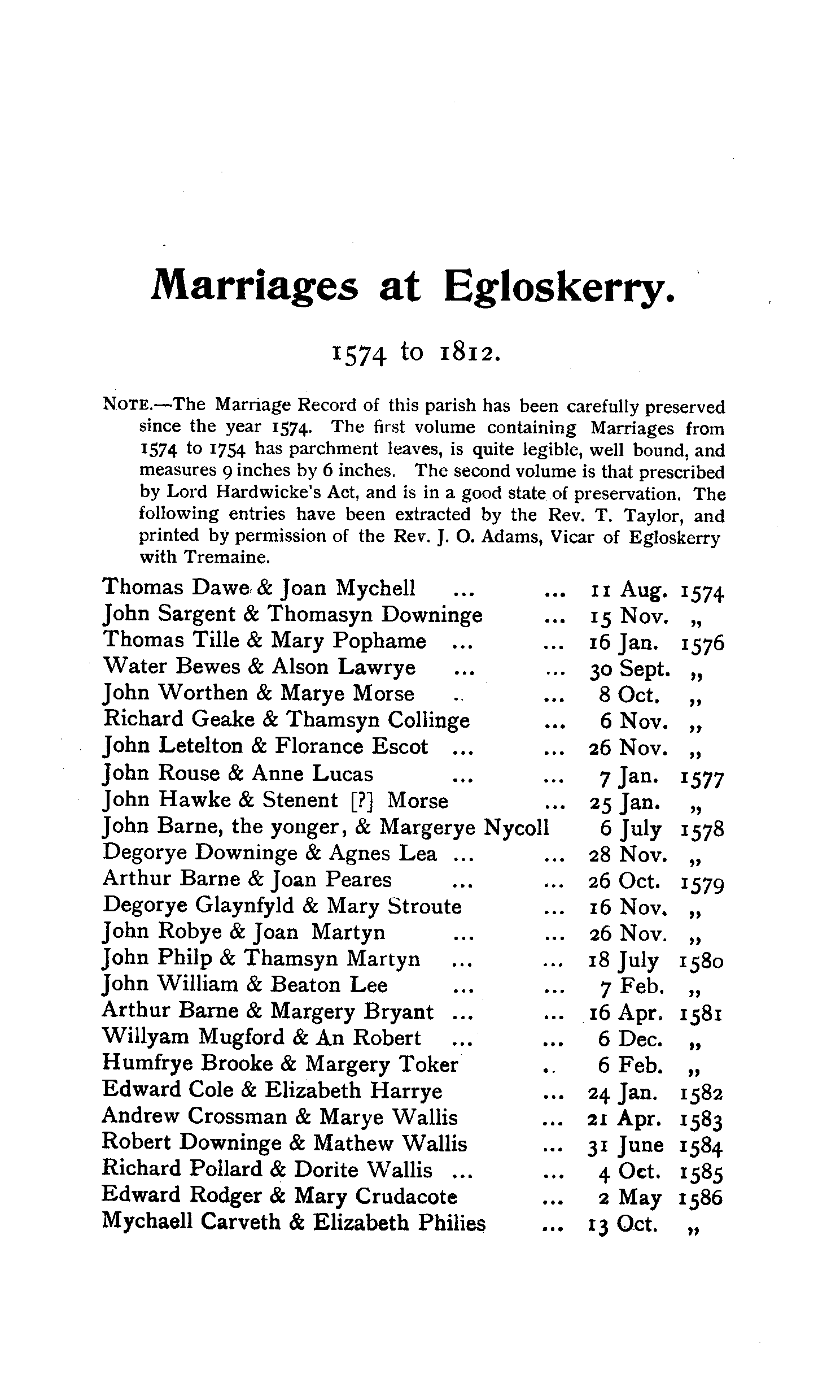 Cornwall Parish Registers - Marriages volume 2 page 101 - click to open larger version in a new window