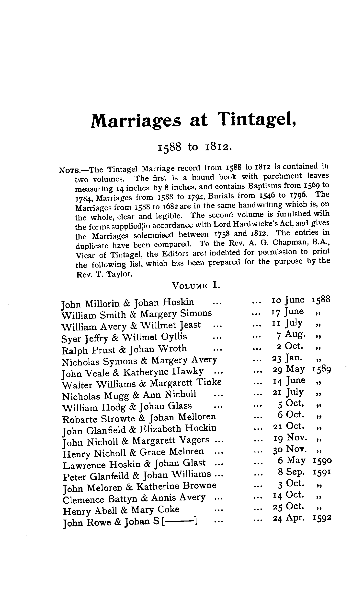 Cornwall Parish Registers - Marriages volume 2 page 23 - click to open larger version in a new window
