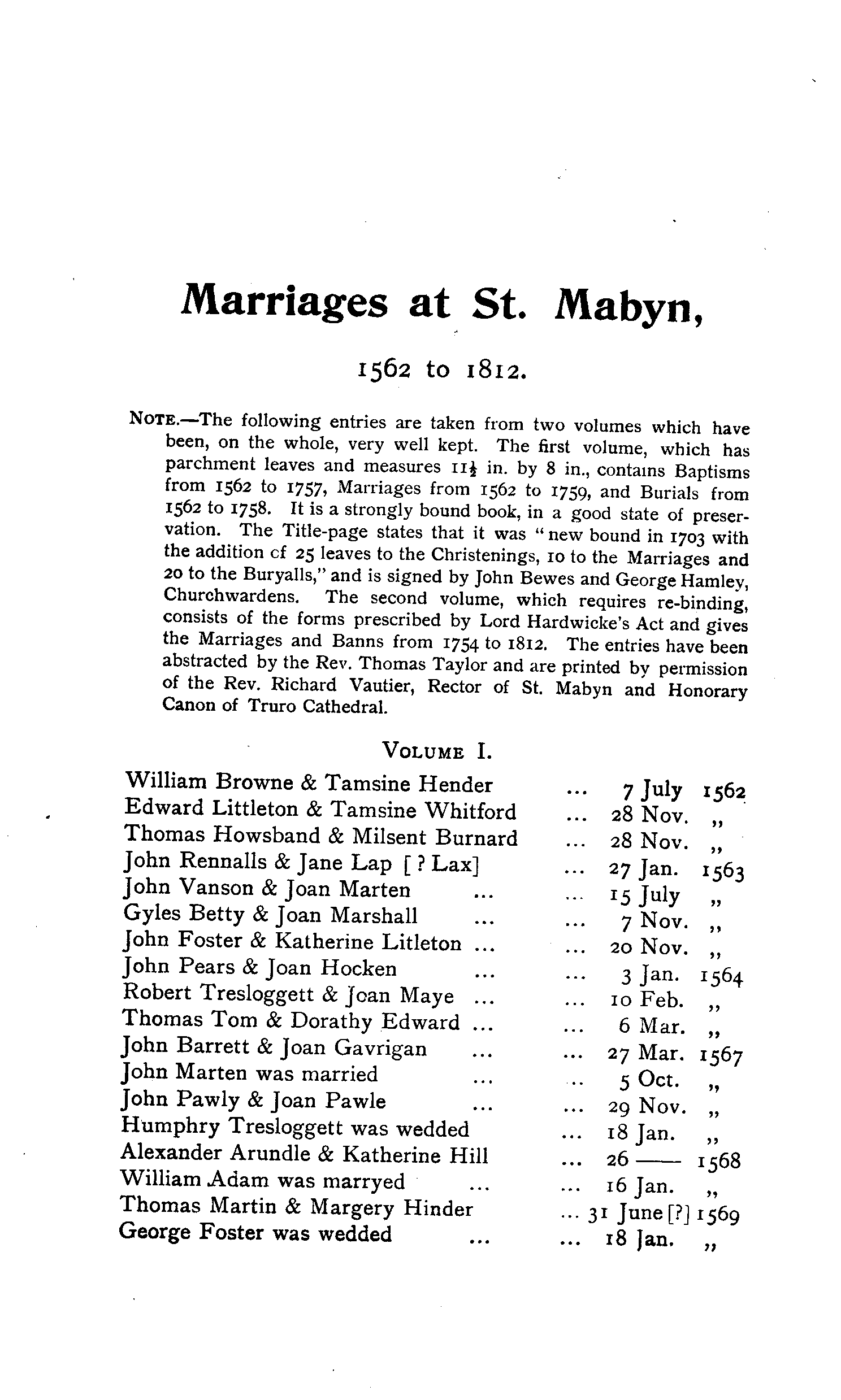 Cornwall Parish Registers - Marriages volume 2 page 69 - click to open larger version in a new window