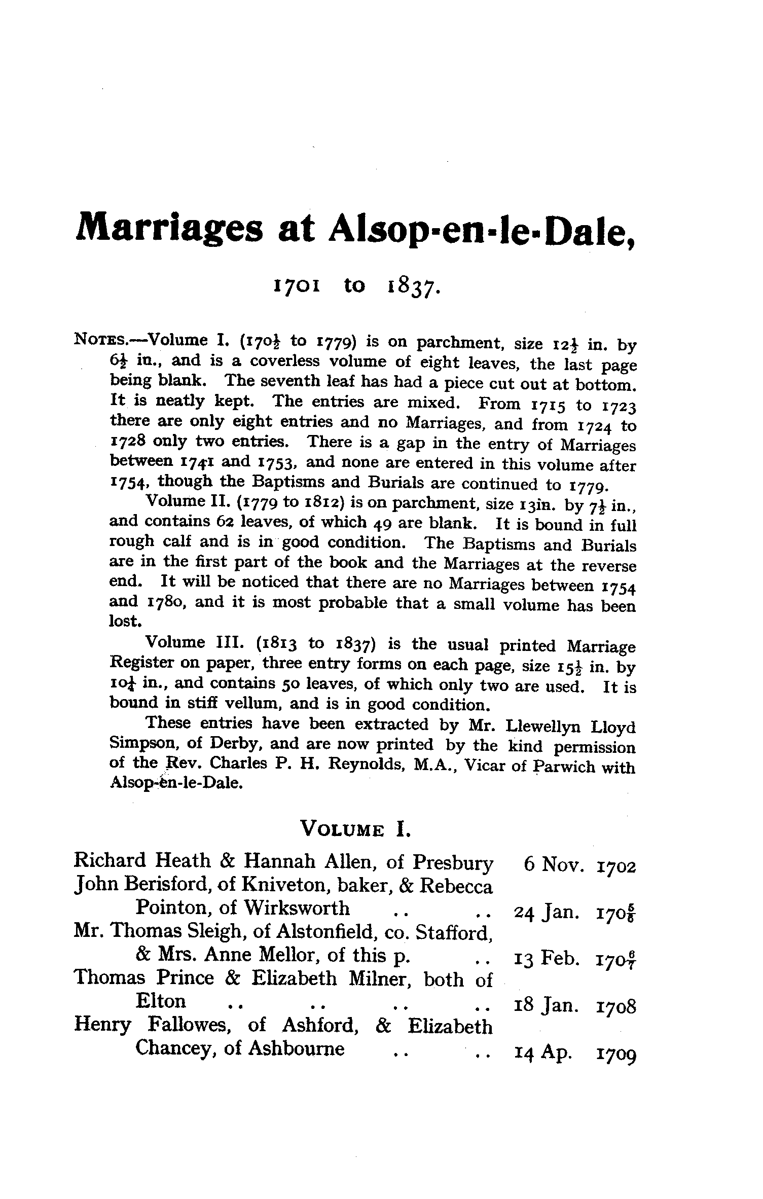 Derbyshire Parish Registers - Marriages volume 8 page 135 - click to open larger version in a new window