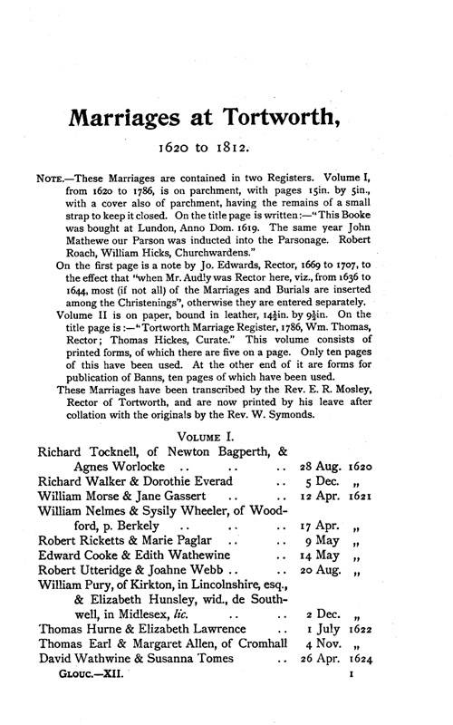 Gloucestershire Parish Registers - Marriages volume 12 page 113 - click to open larger version in a new window