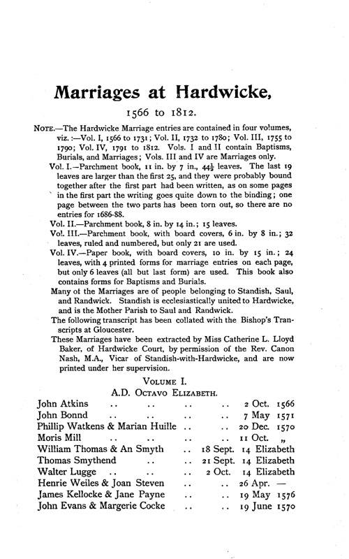 Gloucestershire Parish Registers - Marriages volume 12 page 71 - click to open larger version in a new window
