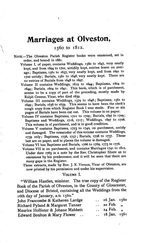 Gloucestershire Parish Registers - Marriages volume 14 page 71