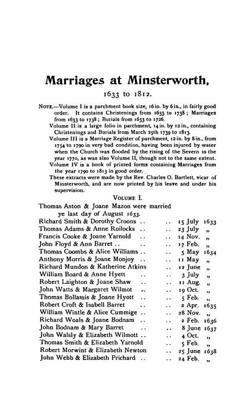 Gloucestershire Parish Registers - Marriages volume 17 page 13 - click to open larger version in a new window