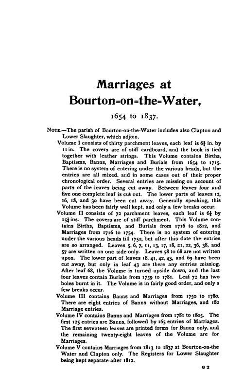 Gloucestershire Parish Registers - Marriages volume 17 page 83