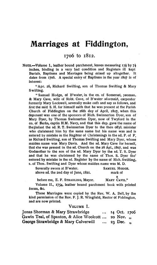 Somerset Parish Registers - Marriages volume 12 page 69