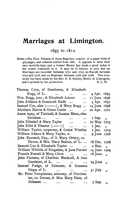 Somerset Parish Registers - Marriages volume 2 page 25 - click to open larger version in a new window