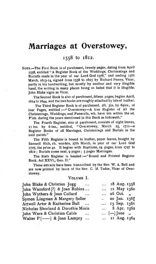 Somerset Parish Registers - Marriages volume 6 page 55