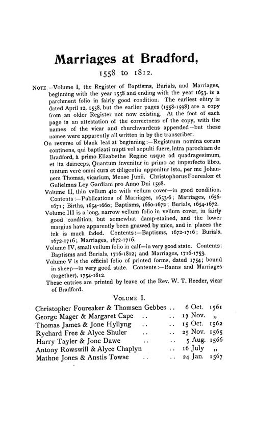 Somerset Parish Registers - Marriages volume 7 page 125