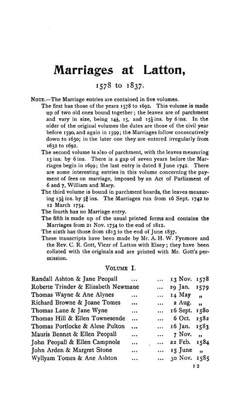 Wiltshire Parish Registers - Marriages volume 12 page 115 - click to open larger version in a new window