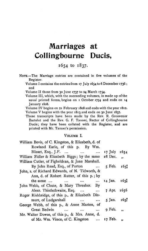Wiltshire Parish Registers - Marriages volume 12 page 133 - click to open larger version in a new window