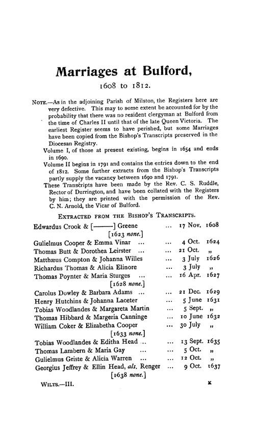 Wiltshire Parish Registers - Marriages volume 3 page 129 - click to open larger version in a new window