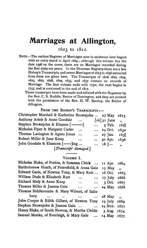 Wiltshire Parish Registers - Marriages volume 3 page 143 - click to open larger version in a new window