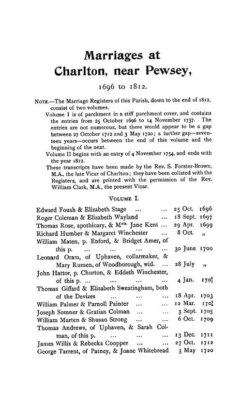 Wiltshire Parish Registers - Marriages volume 7 page 141 - click to open larger version in a new window
