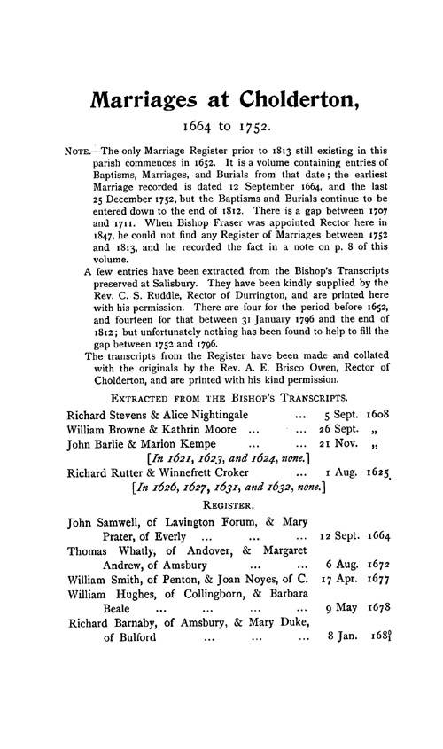 Wiltshire Parish Registers - Marriages volume 7 page 95 - click to open larger version in a new window