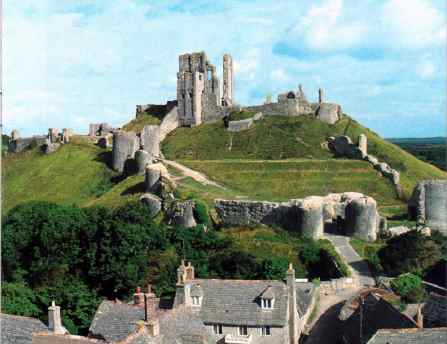 Corfe Castle in 1984