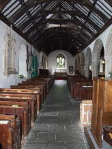 Nave of the Church of St. Just, St. Just in Roseland