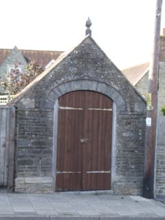 Old Congregational Church entrance, and later pump room