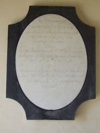 Monument to John, William and Anne Castleman