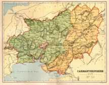 Map of Carmarthenshire