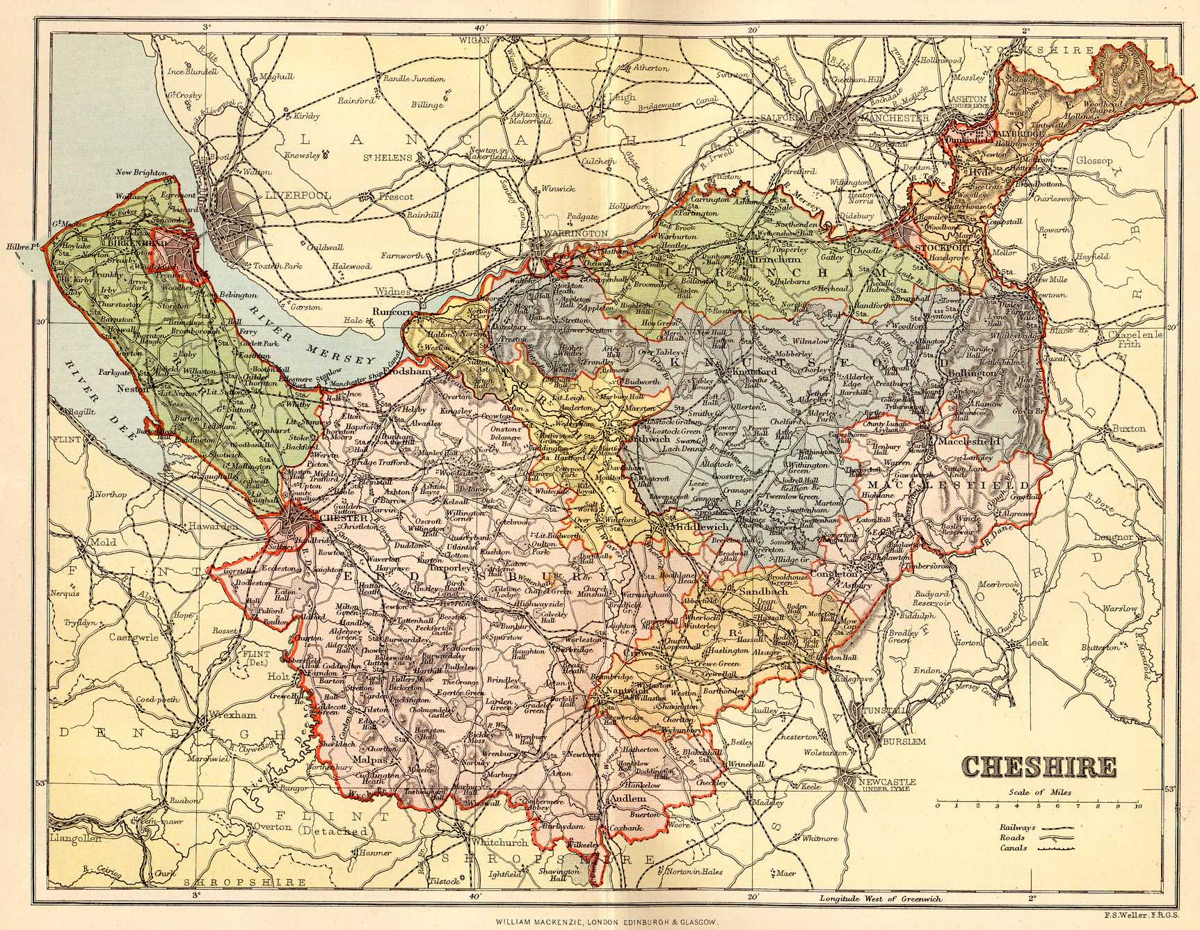 Old map of Ches... Cheshire