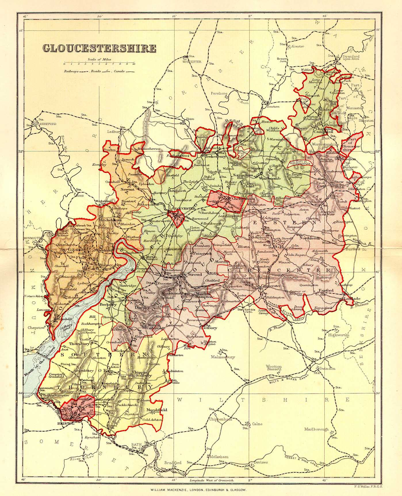 Historical description of Gloucestershire England