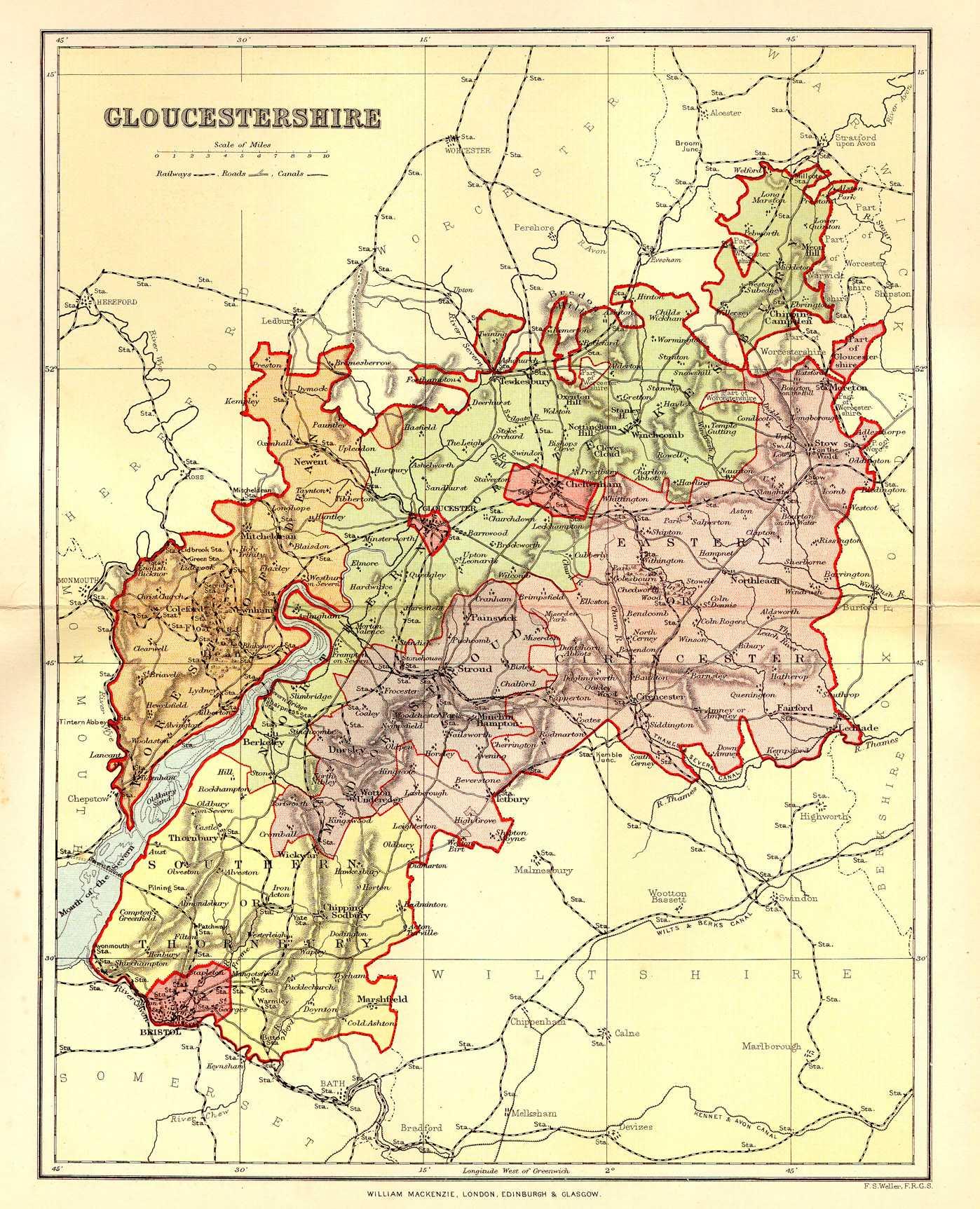 Historical description of Gloucestershire England