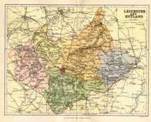 Map of Leicestershire and Rutland