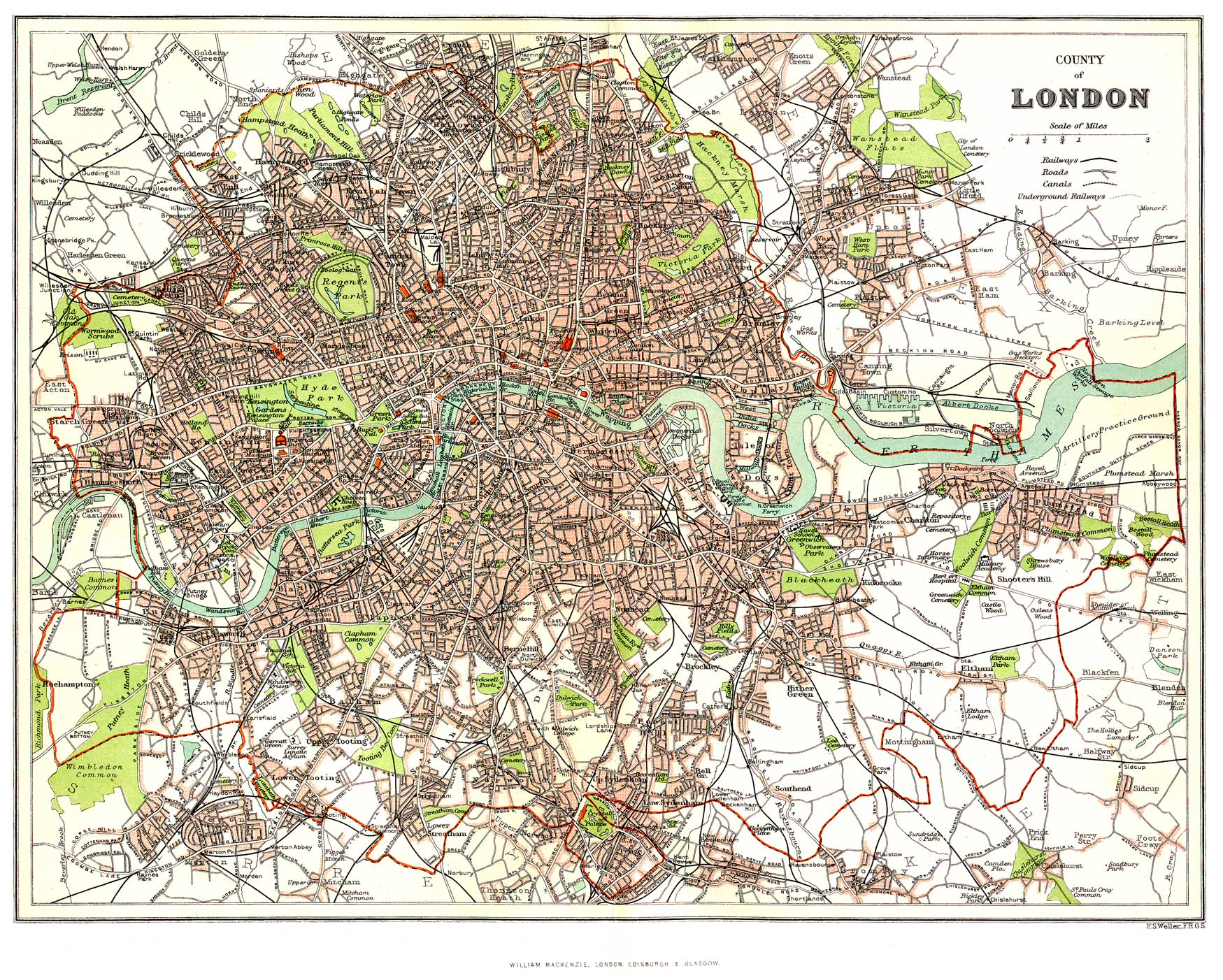 Historical Description Of London England - London map historical