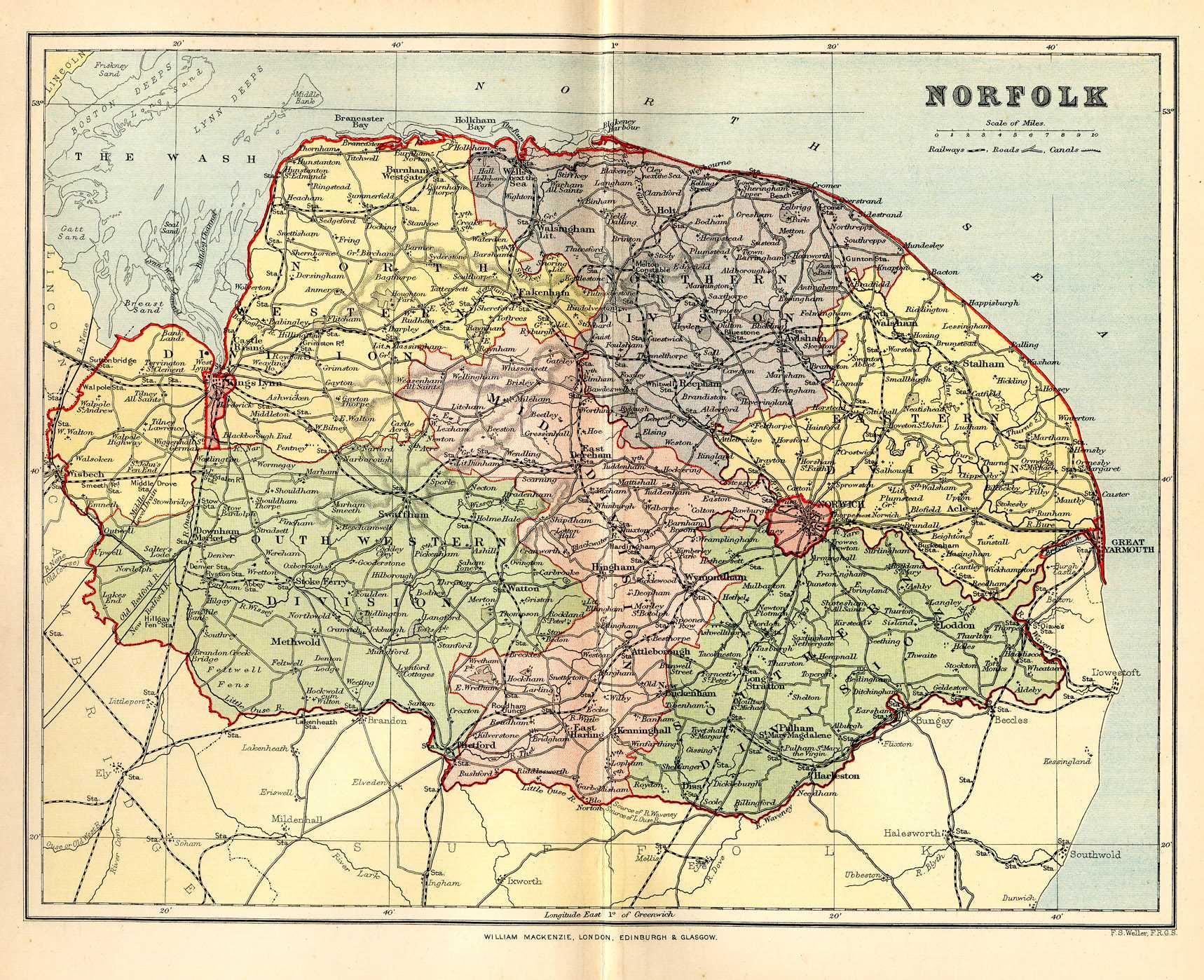 Historical description of Norfolk England