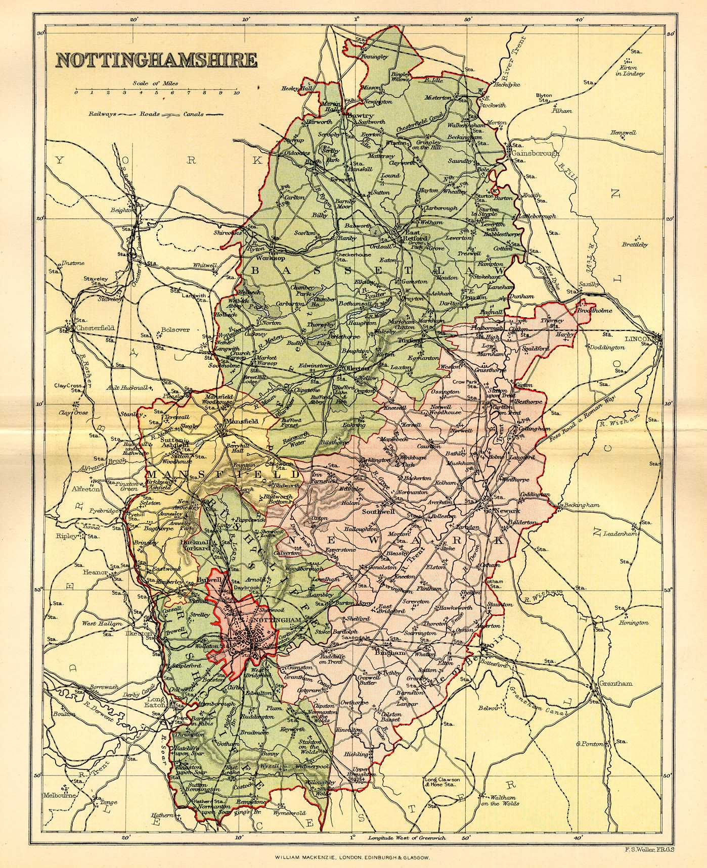 Nottingham England Map