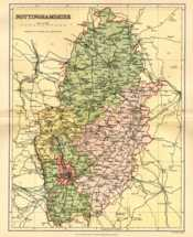Map of Nottinghamshire