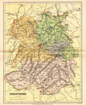 Map of Shropshire
