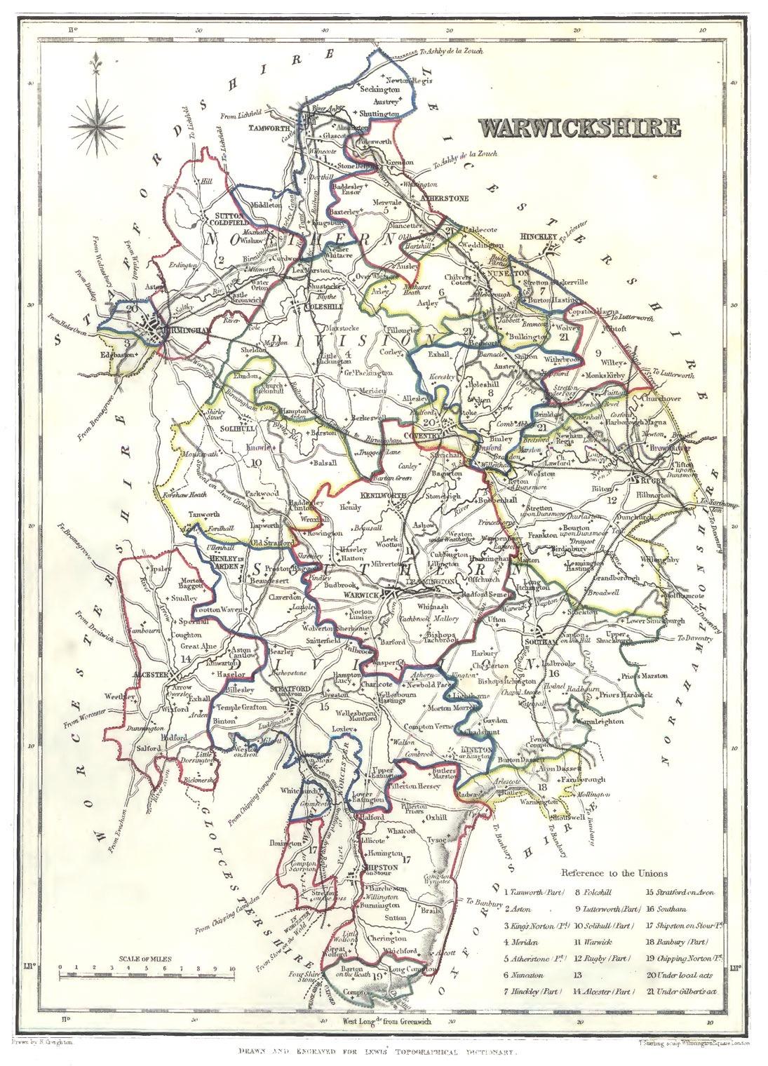 Warwickshire genealogy heraldry and family history – Map Uk Warwick